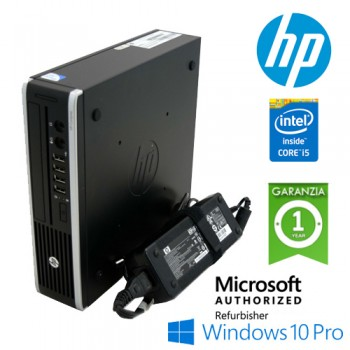 PC HP 8300 Elite USDT Core i5-3470S 2.9GHz 4Gb Ram 130Gb DVDRW Piccolo Leggero Windows 10 Professional