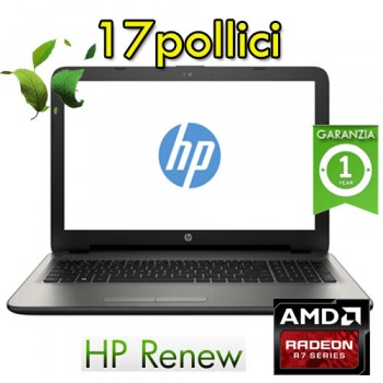 Notebook HP Renew 17.3' A8-7410 2.2GHz RAM 8GB HDD 1Tb RADEON R7 M440 2GB WIN 10 HOME
