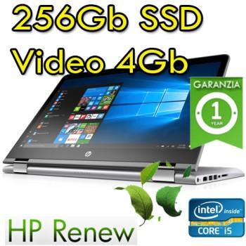 Notebook HP Pavilion x360 14-ba008nl i5-7200U 8Gb SSD 256Gb 14' HD LED NVIDIA GeForce 940MX Windows 10 HOME