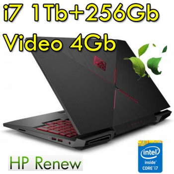 Notebook HP OMEN 15-ce009nl i7-7700HQ 8Gb 1Tb+256Gb NVIDIA GeForce GT1050Ti 4GB 15.6' FHD Windows 10 HOME