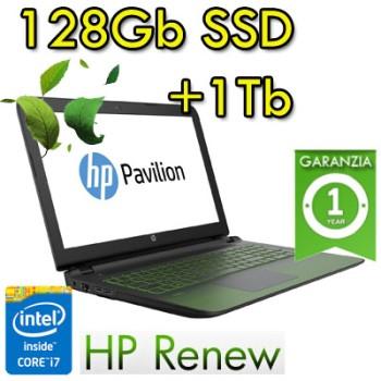 Notebook HP Pavilion Power 15-cb015nl i7-7700HQ 16Gb 1Tb+128Gb SSD Video 4Gb 15.6' HD LED Windows 10 HOME