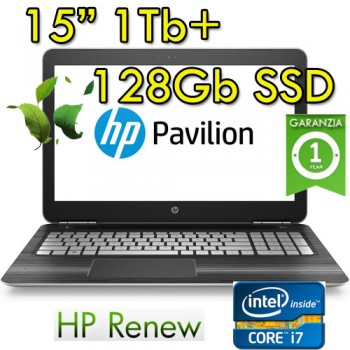 Notebook HP Pavilion 15-bc200nl i7-7700HQ 16Gb 1Tb+128Gb SSD NVIDIA GeForce GTX1050 2Gb 15.6' Windows 10 HOME