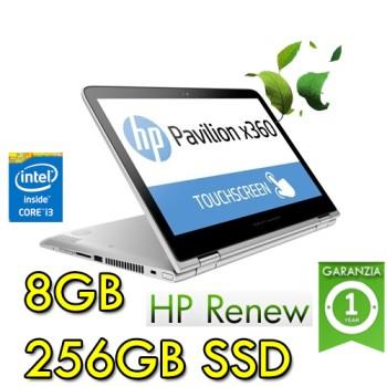 Notebook HP Pavilion x360 14-ba018nl i3-7100U 8Gb 256Gb SSD 14' HD Touchscreen Std Kbd Windows 10 HOME