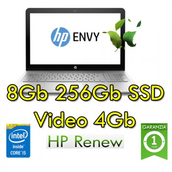 Notebook HP Envy x360 15-bp000nl i5-7200U 8Gb 256SSD 15.6' HD Nvidia GeForce 940MX 4GB Windows 10 HOME