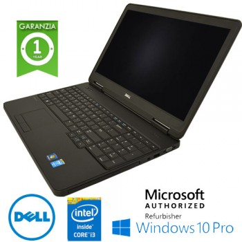 Notebook Dell Latitude E5540 Core i3-4030U 1.9GHz 4Gb Ram 500Gb 15.6' DVD-RW TAST NUM Windows 10 Professional