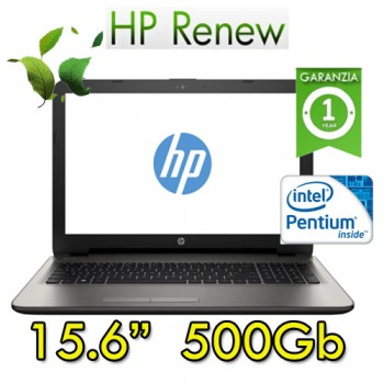 Notebook HP 15-ay500nl Intel N3710 4Gb 500Gb HD DVDRW 15.6'  Windows 10 HOME