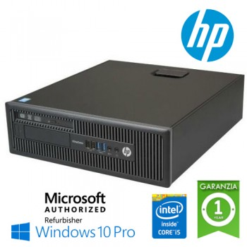 PC HP EliteDesk 800 G1 SFF Core i5-4590 3.3GHz 4Gb 500Gb DVD-RW Windows 10 Professional
