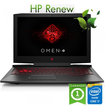 Notebook HP OMEN 15-ce010nl i7-7700HQ 16Gb 1Tb+256Gb NVIDIA GeForce GT1050Ti 4GB 15.6' FHD Windows 10 HOME