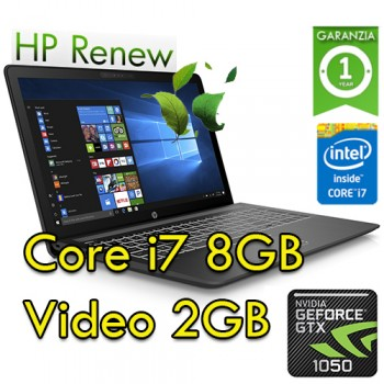Notebook HP Pavilion Power 15-cb028nl i7-7700HQ 8Gb 1Tb+128Gb SSD 15.6' NVIDIA GeForce GTX 1050 Win 10 HOME