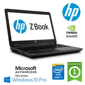 Mobile Workstation HP ZBOOK 15 Core i7-4600MQ 16Gb 256Gb SSD 15.6' nVIDIA Quadro K600M Windows 10 Pro