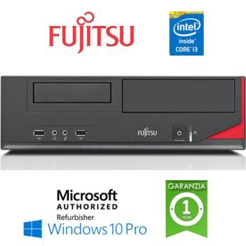 PC Fujitsu Esprimo E520 E85+ Core i3-4130 4Gb Ram 250Gb noODD Windows 10 Professionl
