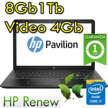 Notebook HP Pavilion Power 15-cb017nl Core i7-7700HQ 8Gb 1Tb 15.6' FHD Windows 10 HOME