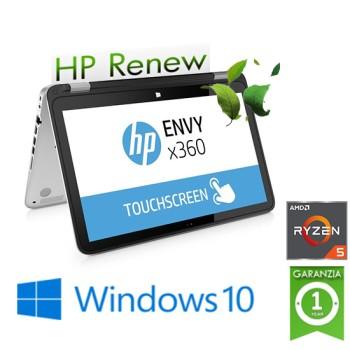 Notebook HP ENVY x360 15-bq101nl AMD Ryzen 5 2500U Quad-Core 8Gb 256Gb 15.6' Windows 10 HOME