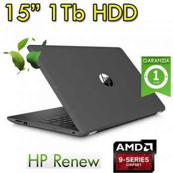 Notebook HP 15-bw099nl AMD A9-Series-A9-9420 8Gb 1Tb 15.6' WLED Windows 10 HOME