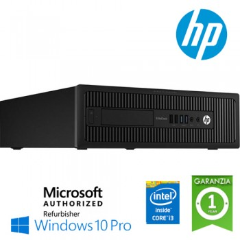 PC HP EliteDesk 800 G1 SFF Core i3-4130 3.4GHz 4Gb 500Gb noODD Windows 10 Professional