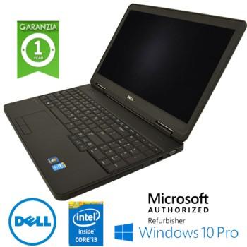 Notebook Dell Latitude E5540 Core i3-4010U 1.7GHz 8Gb Ram 320Gb 15.6' DVD-RW TAST NUM Windows 10 Professional