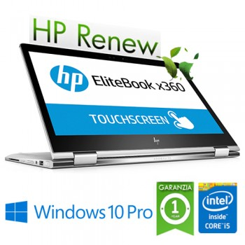 Notebook HP EliteBook X360 1030 G2 i5-7200U 8Gb 128Gb SSD 13.3' FHD Touch Screen Windows 10 Professional