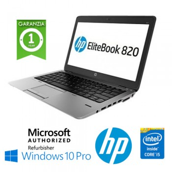 Notebook HP EliteBook 820 G1 Core i5-4300U 8Gb 500Gb 12.5' HD AG LED Windows 10 Professional Leggero