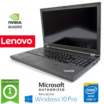 Workstation Lenovo W530 Core i7-3740QM 16Gb Ram 1Tb DVDRW 15.6' QUADRO K1000M Windows 10 Professional