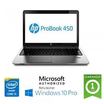 Notebook HP ProBook 450 G2 Core i5-5200U 2.2GHz 8Gb 250Gb SSD 15.6' HD DVD-RW WEBCAM Windows 10 Professional