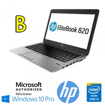 Notebook HP EliteBook 820 G1 Core i5-4300U 4Gb 500Gb 12.5' HD AG LED Windows 10 Professional [Grade B]