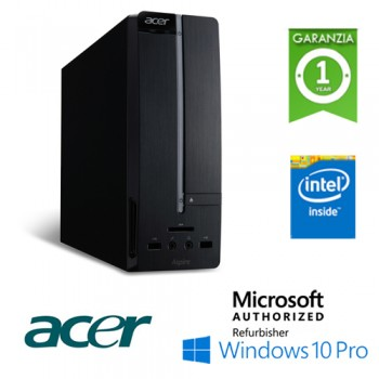 PC Acer Aspire XC-605 SFF Intel Pentium G3220 3.0GHz 4Gb Ram 1Tb DVD-RW Windows 10 Professional