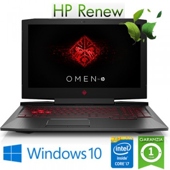Notebook HP Omen 15-ce022nl i7-7700HQ 8Gb 1Tb+128Gb 15.6' NVIDIA GeForce GTX 1050 2GB Gaming Windows 10 HOME