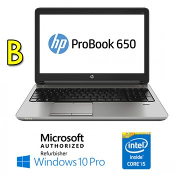 Notebook HP ProBook 650 G1 Core i5-4200M 4Gb 500Gb 15.6' HD AG LED DVD-RW Windows 10 Professional [Grade B]