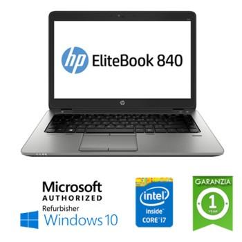 Notebook HP EliteBook 840 G1 Core i7-4600U 8Gb 180Gb SSD 14' LED  Windows 10 HOME