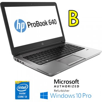Notebook HP ProBook 640 G1 Core i3-4000M 4Gb 500Gb 14.1' AG LED Windows 10 Professional [Grade B]