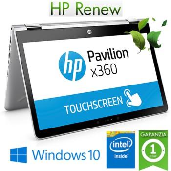 Notebook HP Pavilion x360 14-cd0015nl Intel Pentium Gold 4415U 8Gb 128Gb SSD 14' HD SVA Windows 10 HOME