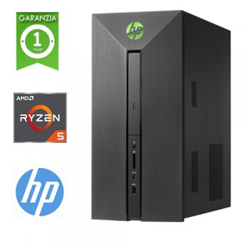 PC HP Pavilion 580-106NL RYZEN5 A1400 3.2GHz 8Gb Ram 1Tb DVD-RW RADEON RX 550 2GB Windows 10 HOME