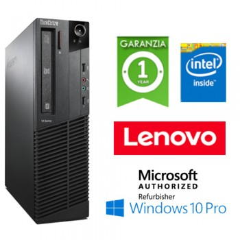 PC Lenovo ThinkCentre M83 Intel Pentium G3220 3.0GHz 4Gb Ram 250Gb DVD-RW Windows 10 Professional SFF