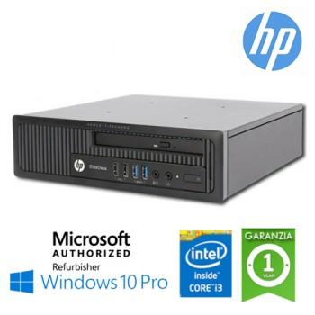 PC HP EliteDesk 800 G1 USDT Core i3-4330 3.5GHz 4Gb Ram 320Gb DVD-RW Windows 10 Professional