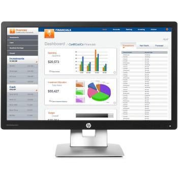 Monitor HP EliteDisplay E232 23 Pollici LED Full-HD IPS Black-Silver