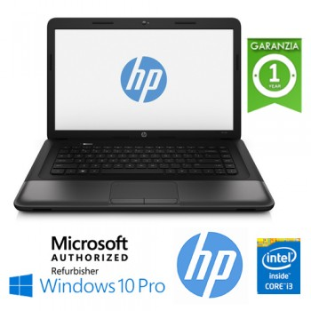 Notebook HP ProBook 650 Core i3-2348M 4Gb 500Gb 15.6' HD AG LED DVD-RW Windows 10 Professional