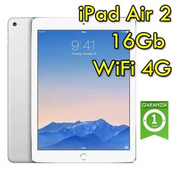iPad Air 2 16Gb Argento WiFi Cellular 4G MH2V2LL/A 9.7' Retina Bluetooth Webcam Originale
