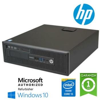 PC HP EliteDesk 800 G1 SFF Core i5-4570 3.2GHz 8Gb 240Gb SSD DVD Windows 10 HOME