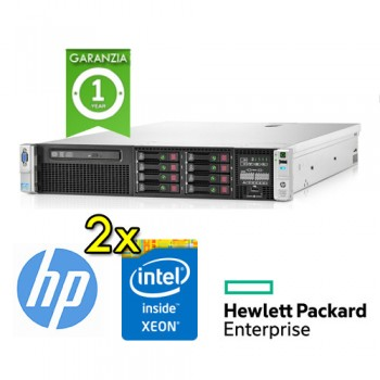 Server HP Proliant DL380p G8 (2) Xeon Quad Core E5-2609 2.4 64Gb Ram 600Gb 2.5' (2) PSU Smart Array P420i/512
