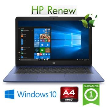 Notebook HP Stream 14-ds0002nl AMD A4-9120E 4Gb 64Gb eMMC 14' HD BV LED Windows 10 HOME S