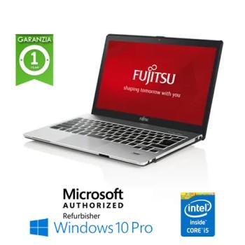 Notebook Fujitsu Lifebook S904 Core i5-4300M 8Gb Ram 256Gb SSD DVD-RW 13.3' Windows 10 Professional