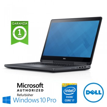 Mobile Workstation Dell Precision M7710 Core i7-6920HQ 16Gb 512Gb SSD 17.3' Nvidia Quadro M4000M Windows 10Pro