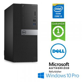 PC Dell Optiplex 3040 Tower Core i3-6100 3.7GHz 8Gb Ram 500Gb DVD-RW Windows 10 Professional
