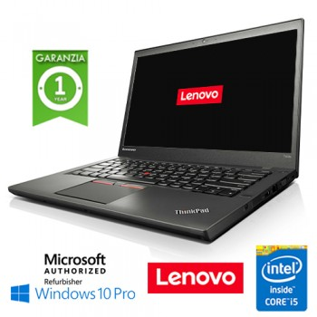 Notebook Lenovo Thinkpad T450S Slim Core i5-5300U Quinta Gen. 8Gb 240Gb SSD 14' Windows 10 Professional