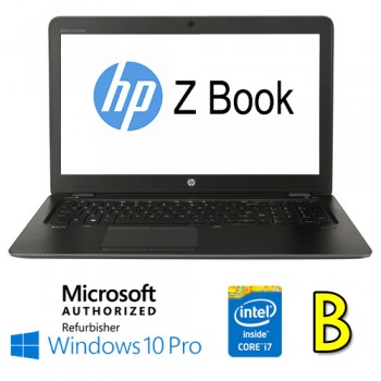 Mobile Workstation HP ZBOOK 15U G3 Core i7-6500U 16Gb 256Gb SSD 15.6' Windows 10 Professional [Grade B]