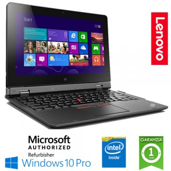 Notebook Lenovo Thinkpad Helix 2nd Core M-5Y71 8Gb 240Gb SSD 11.6' Touch Screen Windows 10 Professional