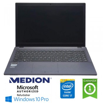 Notebook Medion Terraque W650RB-P Core i7-6700HQ 2.6GHz 16Gb 500Gb 15.6' Geforce 940M 2GB Win. 10 Pro. NUOVO