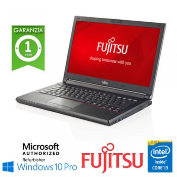 Notebook Fujitsu Lifebook E544 Core i3-4000M 8Gb Ram 320Gb DVD-RW 14' Windows 10 Professional