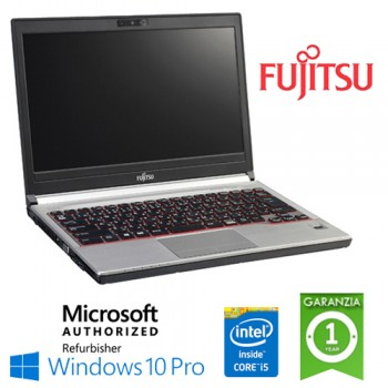 Notebook Fujitsu Lifebook E736 Core i5-6200M 8Gb Ram 256Gb SSD NO-ODD 13.3' Windows 10 Professional