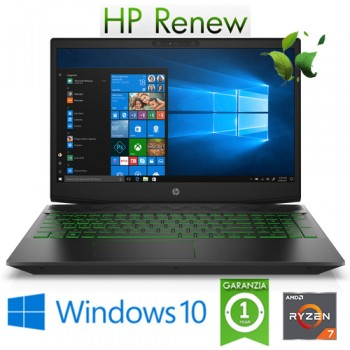 Notebook HP Pavilion 15-ec0014nl R7-3750H 16Gb 512Gb SSD 15.6' NVIDIA GeForce GTX 1650 4GB Gaming Win. 10HOME